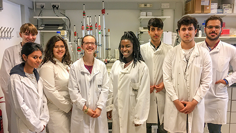 Biology students get hands on lab experience at MRC centre