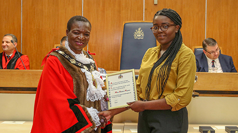 Woodhouse student Christevie appointed Deputy Youth Mayor of Enfield