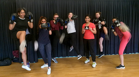 Woodhouse girl boxer hooks Sport England prize